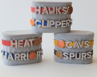 Personalized Sports Team Charm Bracelet - Basketball