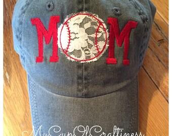 Embroidered Mom Baseball Cap