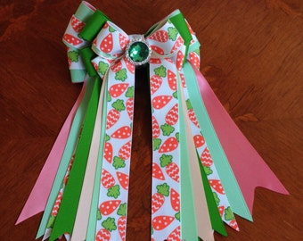 Bows 4 Horse Shows/Easter, St Patricks Day/Carrots, Green Sparkle