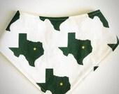 Reversible Bandana Bib Green Texas