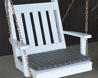 Yellow Pine Traditional English Swing Chair