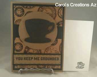 Handcrafted Greeting Card / Coffee Card / Coffee Lovers Card / Coffee Mug Card / Coffee Cup Card / Encouragement Card / Just Because Card