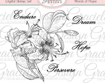 Words of Hope - Digital Stamp Set