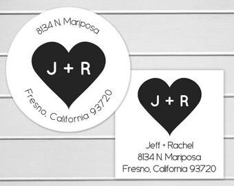 Wedding Invitation Return Address Label, Wedding Invitation Return Address Sticker, Round Address Label (#149)