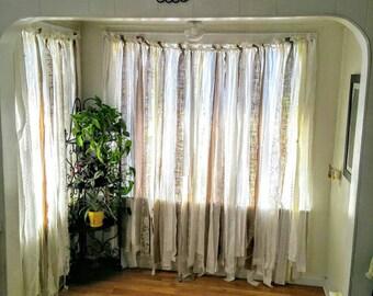 Burlap Lace Curtain, 6u0027 ~ Shabby Burlap Garland Curtain ~ Rustic Wedding  Garland Backdrop