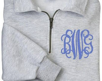 Quarterzip. Pullover. Monogram pullover