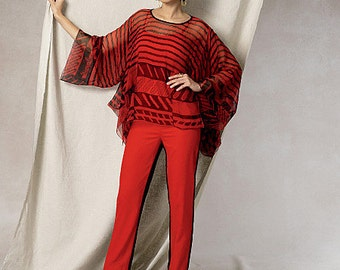 Vogue Pattern V1491 Misses' Handkerchief-Hem Tunic and Pants