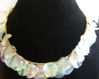 original necklace gold and white