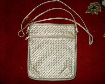 Vintage Ganson woven leather crossbody bag
