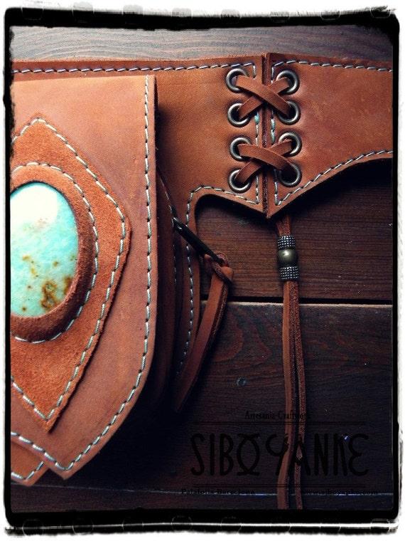 leather utility belt pack festival belt handmade
