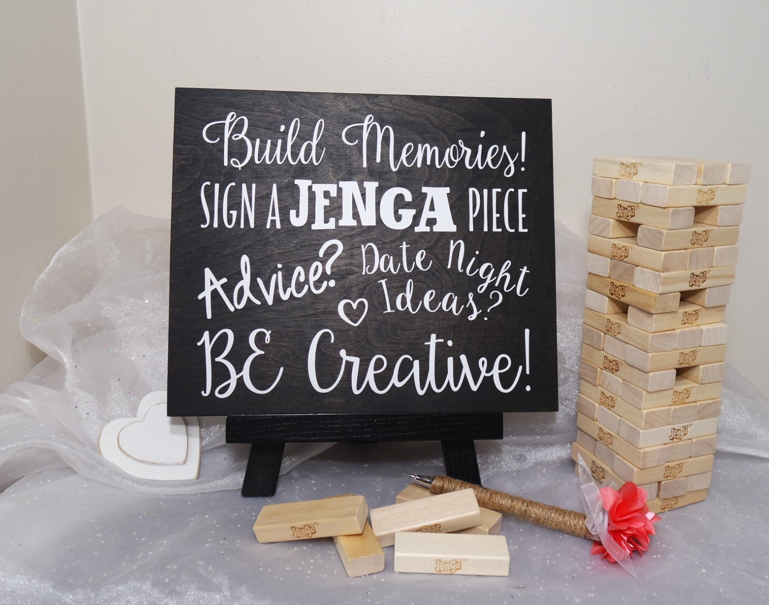 Sign A Jenga Piece Wedding Guest Book Sign By