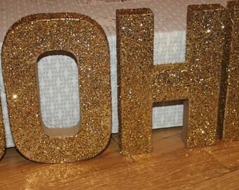 Glitter Letter Blocks