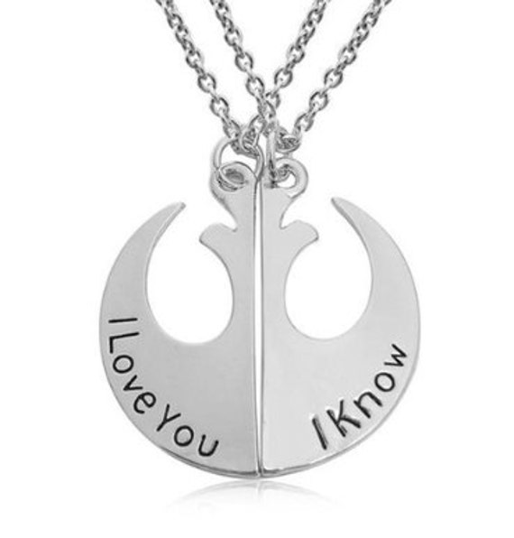 last minute gifts star wars pendant i love you i know best friends pendant