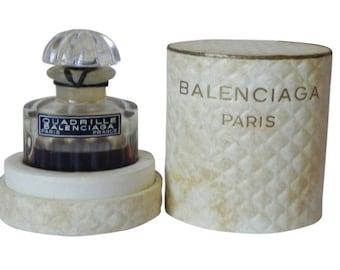 Sealed Bottle Vintage Balenciaga Quadrille 1/4 oz Pure Parfum Extrait French Perfume New NOS