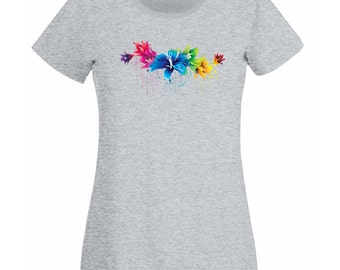 Womens Custom Personalized T-Shirt with Any Print / Customized Made Shirts / Colorful Personal Unique Shirt + Free Random Decal Gift
