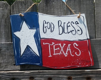 Texas Flag Door Hanger