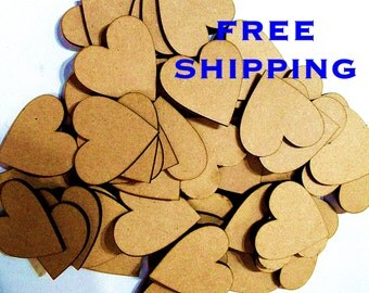 BUMPER Pack of 25 HEARTS 100mm from 3mm MDF