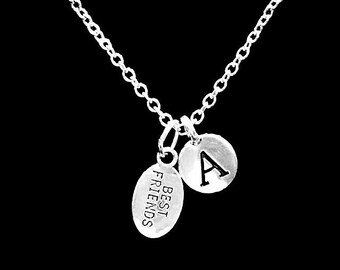 Initial Necklace, Best Friend Gift, Best Friends Necklace, Christmas Gift Necklace