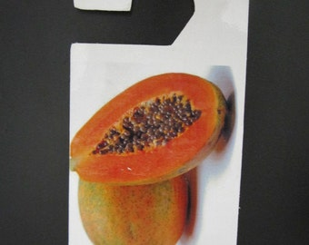 Papaya Fruit Do not disturb door hanger.