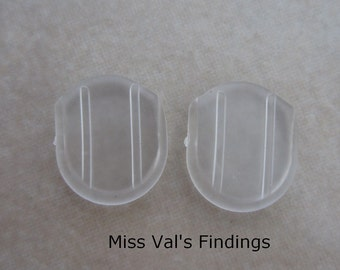 100 clear comfort pads for clip on earclips