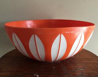 Deka Orange White Lotus Bowl Catherineholm Style