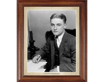 F. Scott Fitzgerald portrait; 16x20 print on premium heavy photo paper