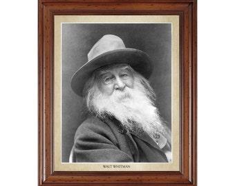 Walt Whitman portrait; 16x20 print on premium heavy photo paper