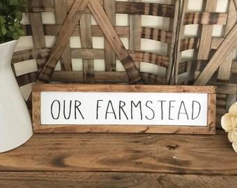Our Farmstead Wood Framed Sign