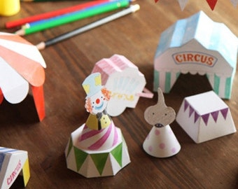 Korean DIY Kids 3D Activity Book / Colouring Book - Circus Making! O-Check Stationery / Gift Idea.