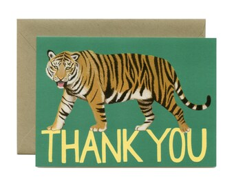 "Tiger Thank You Card - ""Thank You"" - ID: TY096"