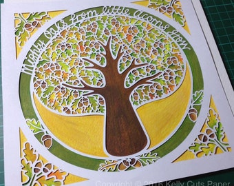 Mighty Oak digital papercut template