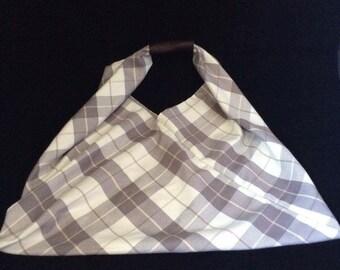Check Japanese Market Bag