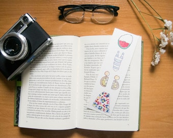 Original bookmarks with summery designs