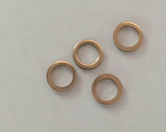 5mm Round Vintage Chain Links/Rings/Hoops or Chain Ends.  Quality Weighty items Copper & Gold Finish; Quantity 25