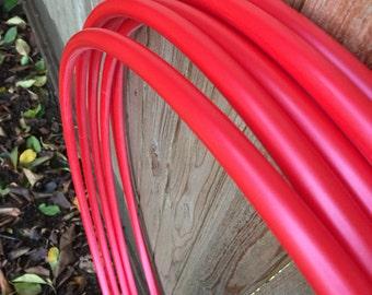 "Metallic Red PolyPro hoop- 5/8"""