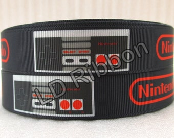 "7/8"" Gaming Grosgrain Ribbon"