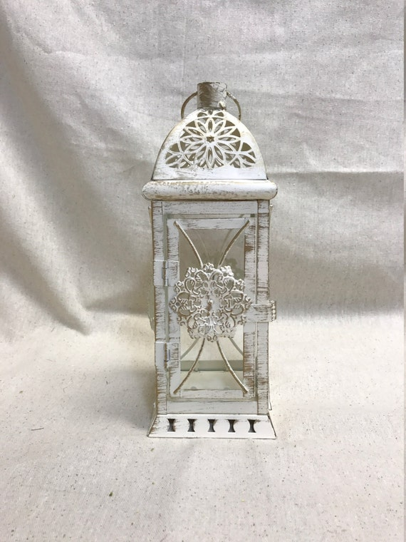 No l wedding lantern centerpiece vintage antique white
