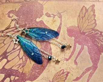 Magical Midnight Star Fairy Wing Earrings (1)