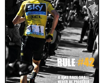 Chris Froome cycling print rules