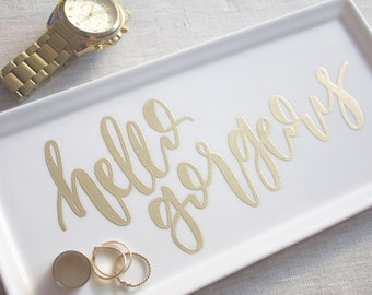 jewelry tray dish // hello gorgeous