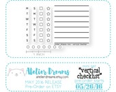 RESTOCK PREORDER Vertical Checklist - Planner Stamps (Photopolymer Clear Stamps) vertical checklist, checklist stamp, vertical stamp