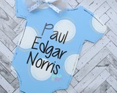 Baby Boy Door Hanger - Baby Announcement  Door Hanger - Wooden Door Hanger
