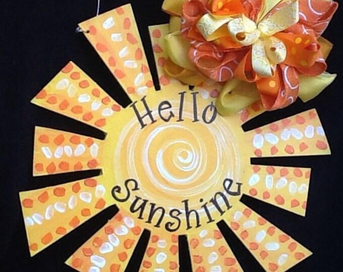 sun door hanger, sun door sign, summer door sign, summer door hanger, Sunshine door hanger, pool door sign, pool sign, pool decoration