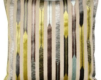 Sanderson Kandinsky Aqua & Lime Geometric Cushion Cover