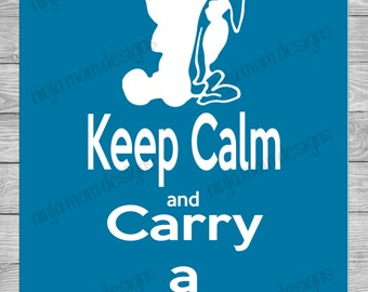 Keep Calm and Carry a Blanket Digital Print