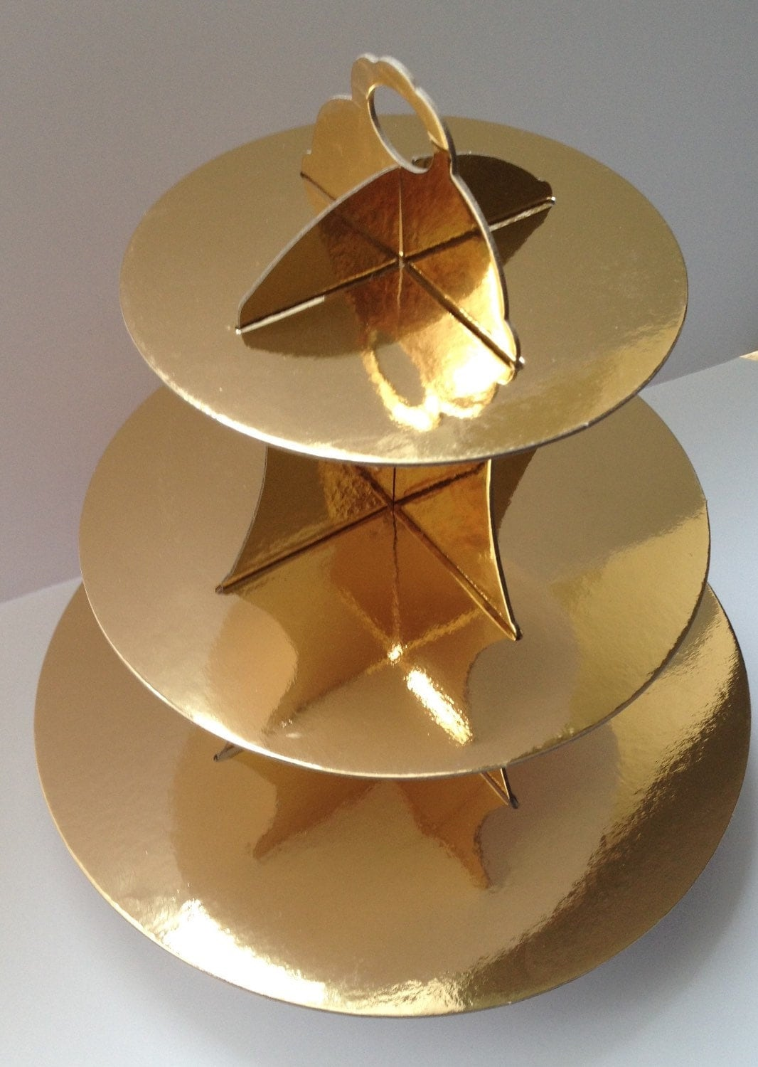 new 3 tier cupcake stand cardboard gold wedding party cake. Black Bedroom Furniture Sets. Home Design Ideas