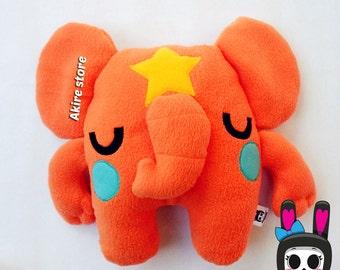 ORANGE ELEPHANT PLUSH toy