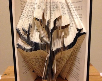 Hand folded tree book