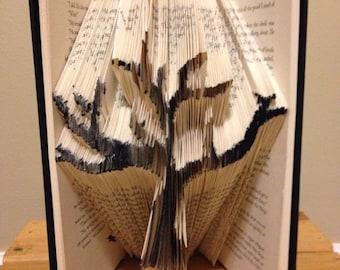 Hand folded tree book