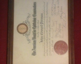 1928 doctor certification